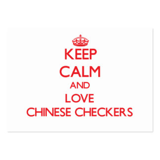 Keep calm and love Chinese Checkers Business Cards