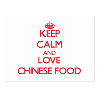 Keep calm and love Chinese Food Business Card