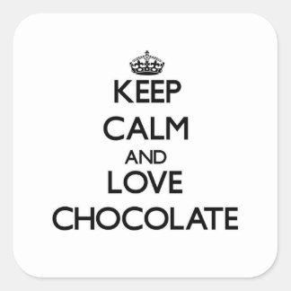 Keep calm and love Chocolate Stickers