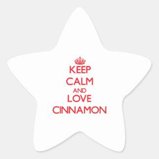 Keep calm and love Cinnamon Star Sticker