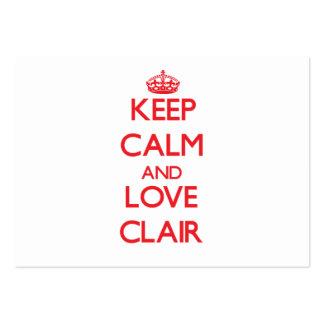 Keep Calm and Love Clair Business Card Templates