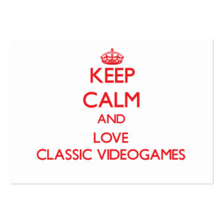 Keep calm and love Classic Videogames Large Business Cards (Pack Of 100)