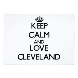 Keep Calm and love Cleveland Personalized Invitations