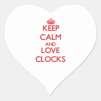 Keep calm and love Clocks Heart Sticker