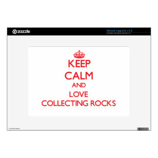 Keep calm and love Collecting Rocks Decals For Netbooks