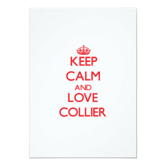 Keep calm and love Collier 5x7 Paper Invitation Card