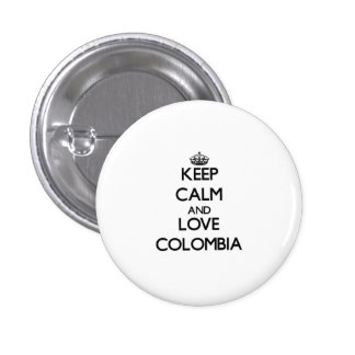 Keep Calm and Love Colombia Buttons
