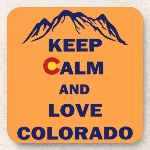Keep Calm And Love Colorado Drink Coasters Zazzle