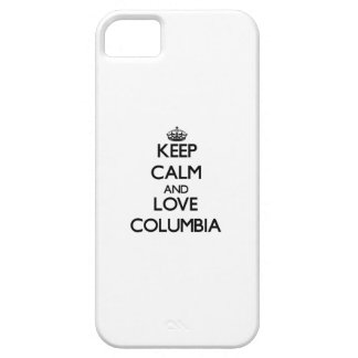Keep Calm and love Columbia iPhone 5 Covers