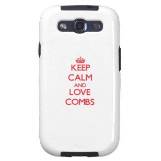 Keep calm and love Combs Samsung Galaxy SIII Cases