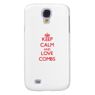 Keep calm and love Combs Samsung Galaxy S4 Cover