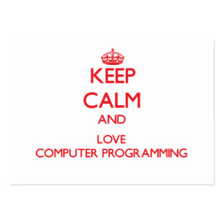 Keep calm and love Computer Programming Large Business Cards (Pack Of 100)