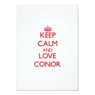 "Keep Calm and Love Conor 5"" X 7"" Invitation Card"