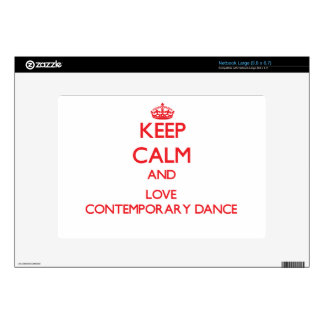 Keep calm and love Contemporary Dance Large Netbook Decals