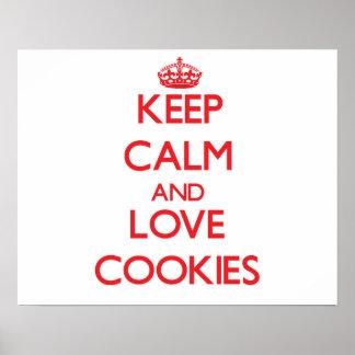 Keep calm and love Cookies Print