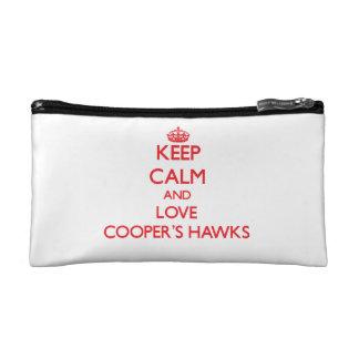Keep calm and love Cooper's Hawks Makeup Bag