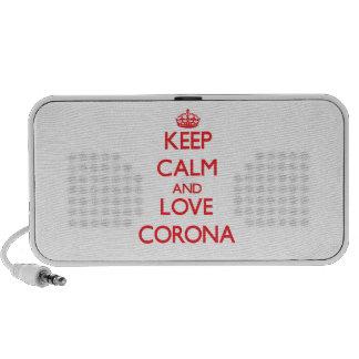 Keep Calm and Love Corona Travel Speakers