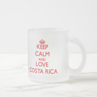 Keep Calm and Love costa rica 10 Oz Frosted Glass Coffee Mug