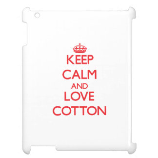 Keep calm and love Cotton iPad Cover