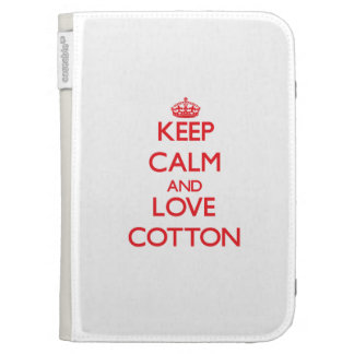 Keep calm and love Cotton Kindle Cover