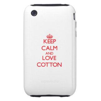 Keep calm and love Cotton Tough iPhone 3 Case