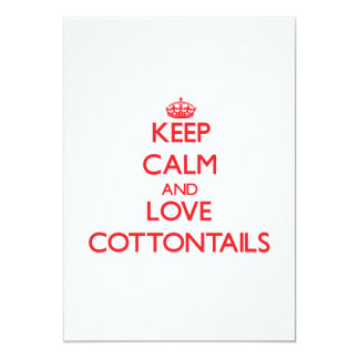 Keep calm and love Cottontails 5x7 Paper Invitation Card