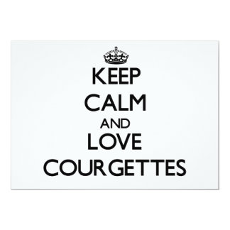 Keep calm and love Courgettes 5x7 Paper Invitation Card
