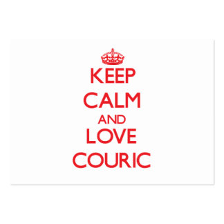 Keep calm and love Couric Business Card