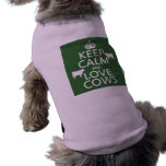 Keep Calm and Love Cows (all colors) Dog Tee Shirt