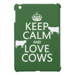 Keep Calm and Love Cows (all colors) iPad Mini Cases