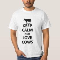 Keep calm and love cows T-Shirt
