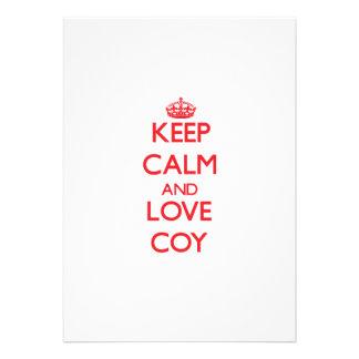 Keep Calm and Love Coy Invitation