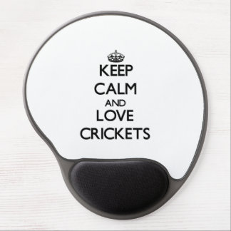 Keep calm and Love Crickets Gel Mouse Pad