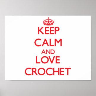 Keep calm and love Crochet Print