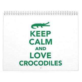 Keep calm and love Crocodiles Calendar