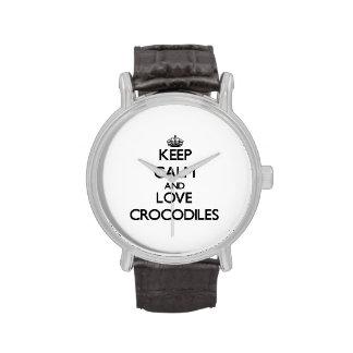 Keep calm and Love Crocodiles Wristwatches