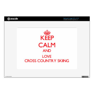 Keep calm and love Cross Country Skiing Skins For Netbooks