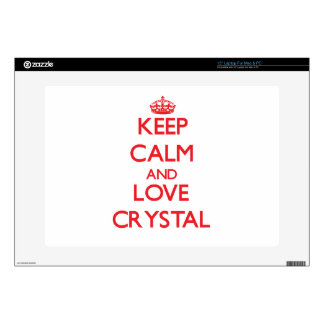Keep calm and love Crystal Laptop Decal