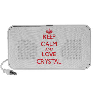 Keep calm and love Crystal iPod Speakers