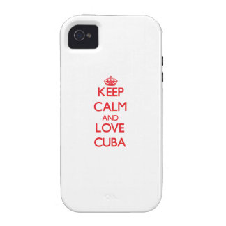 Keep Calm and Love Cuba iPhone 4/4S Case