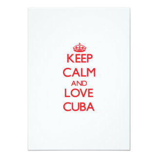 Keep Calm and Love Cuba Invites