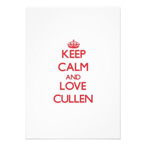 Keep Calm and Love Cullen Custom Invites