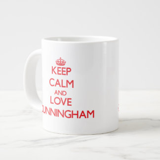 Keep calm and love Cunningham Extra Large Mugs