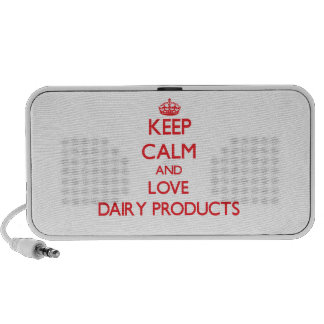 Keep calm and love Dairy Products Speakers