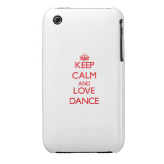 Keep calm and love Dance iPhone 3 Cover