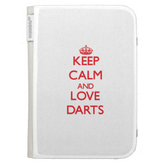 Keep calm and love Darts Cases For Kindle