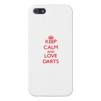 Keep calm and love Darts Cover For iPhone 5