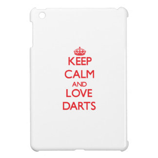 Keep calm and love Darts Cover For The iPad Mini