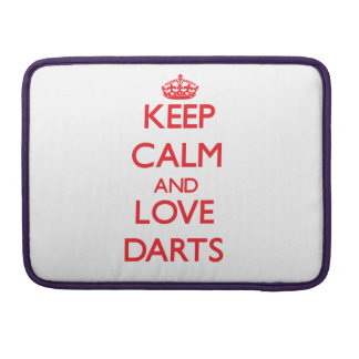 Keep calm and love Darts MacBook Pro Sleeves