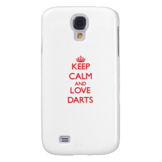 Keep calm and love Darts Samsung Galaxy S4 Cover